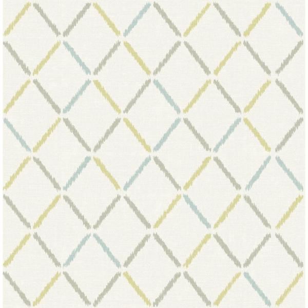 A-Street Allotrope Multicolor Linen Geometric Wallpaper 2902-25533