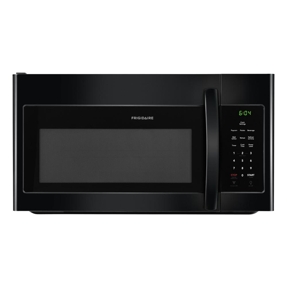 30 in. 1.6 cu. ft. Over the Range Microwave in Black