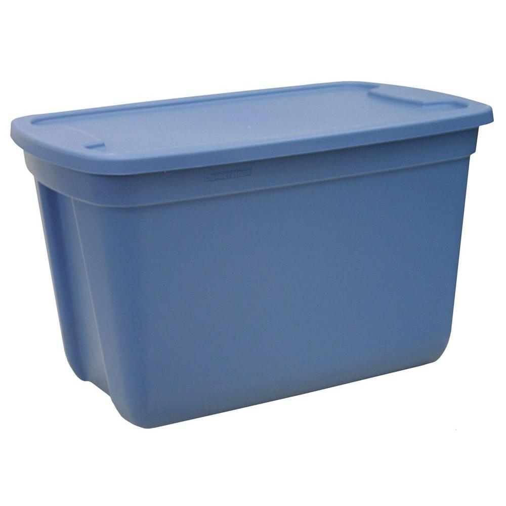 Hdx 10 Gal Storage Tote In Blue 2010 0109 The Home Depot