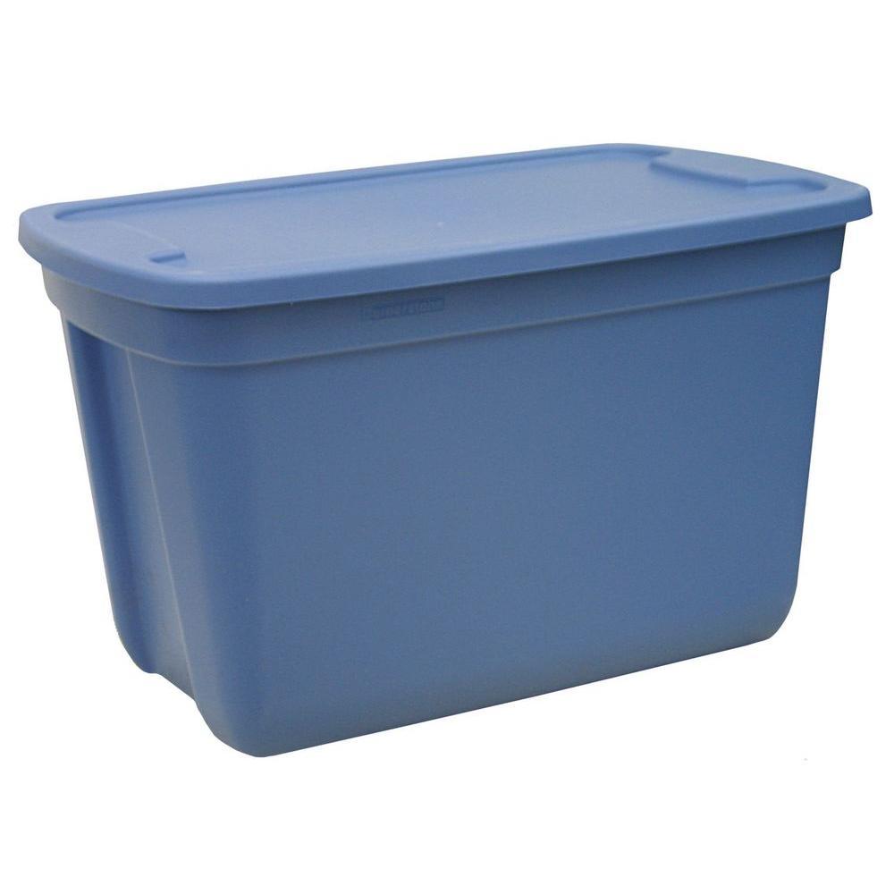 HDX 10 Gal. Storage Tote in Blue