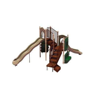 UPlay Today Timber Glen (Natural) Commercial Playset with Ground Spike