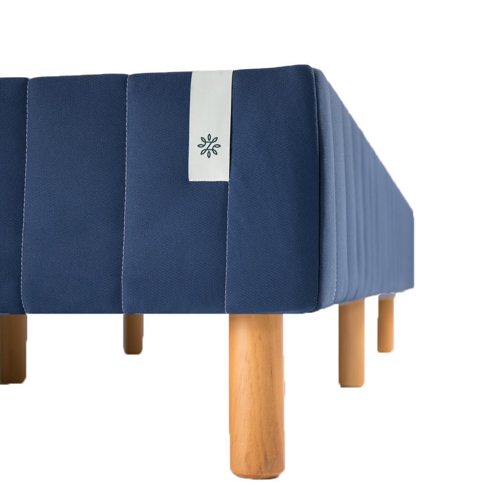 Good Design Winner Navy Metal Full 16 in. Mattress Foundation