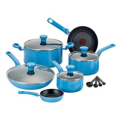Excite 14-Piece Blue Cookware Set with Lids