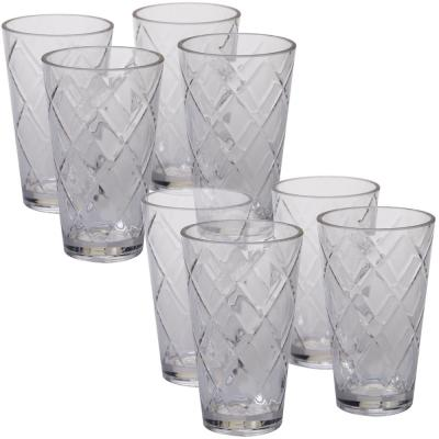 20 oz. 8-Piece Clear Acrylic Ice Tea Glass