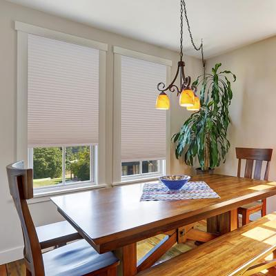 Easy Lift Trim-at-Home Cordless Pleated Light Filtering Fabric Motorized Window Blinds