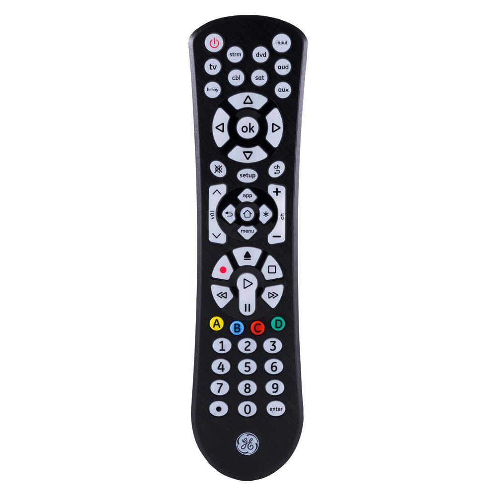 8-Device Universal Remote Control, Backlit, Black