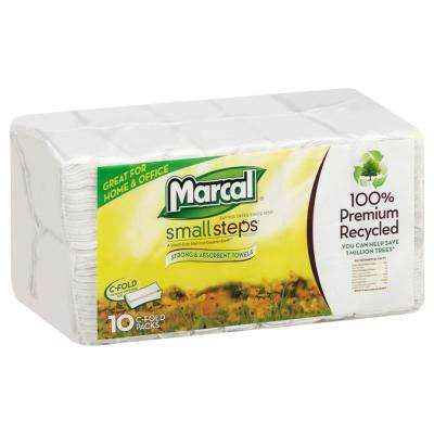 C-Fold White Paper Towel (10-Pack)