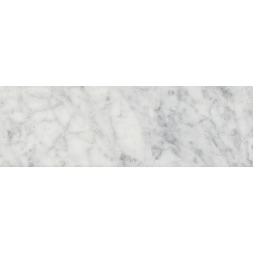 Msi Carrara White 4 In X 12 Polished Marble Floor And Wall