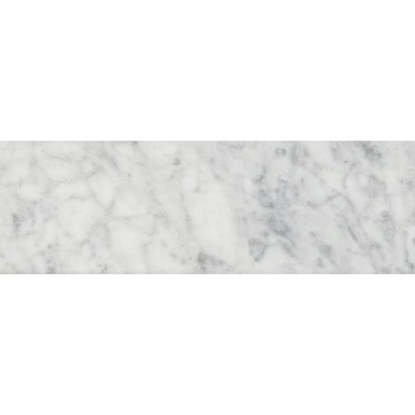 Carrara White 4 in. x 12 in. Polished Marble Floor and Wall Tile (5 sq. ft./case)