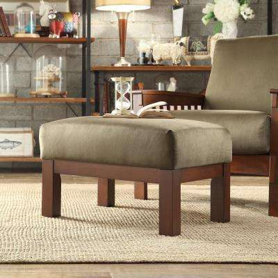 Olive Accent Ottoman