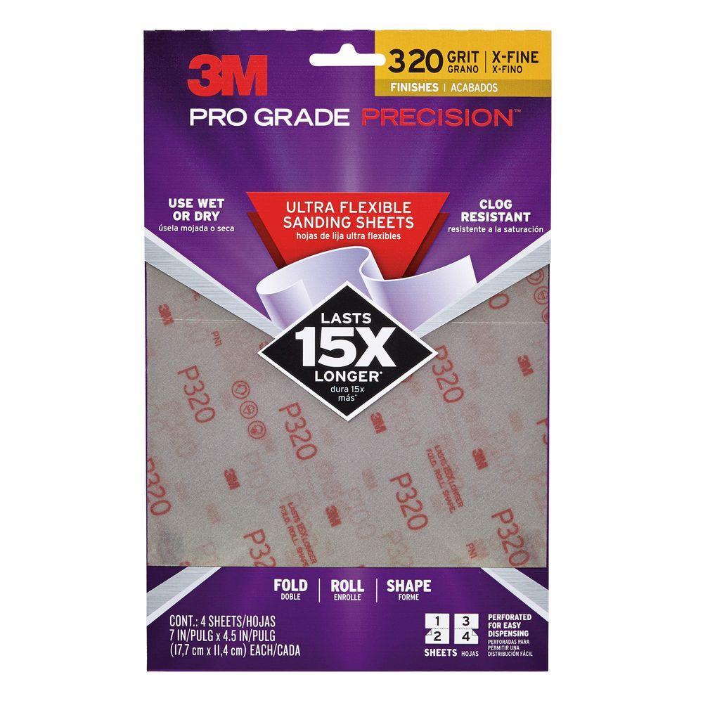 3m Pro Grade Precision 4 5 In X 7 In 320 Grit Extra Fine