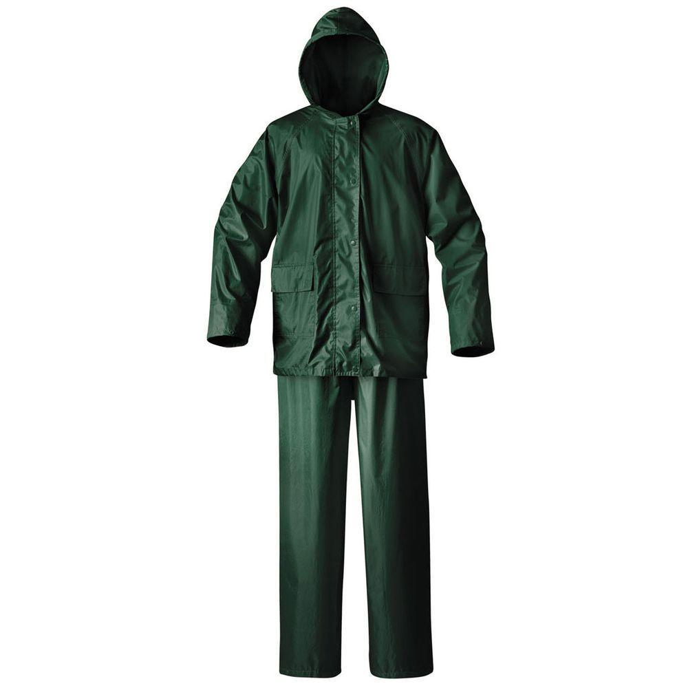 Mens Simplex Large Green Rainsuit
