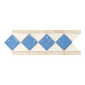 Click here to buy Daltile Fashion Accents Arctic White/Lagoon 4 inch x 11 inch Stone and Glass Decorative... by Daltile.