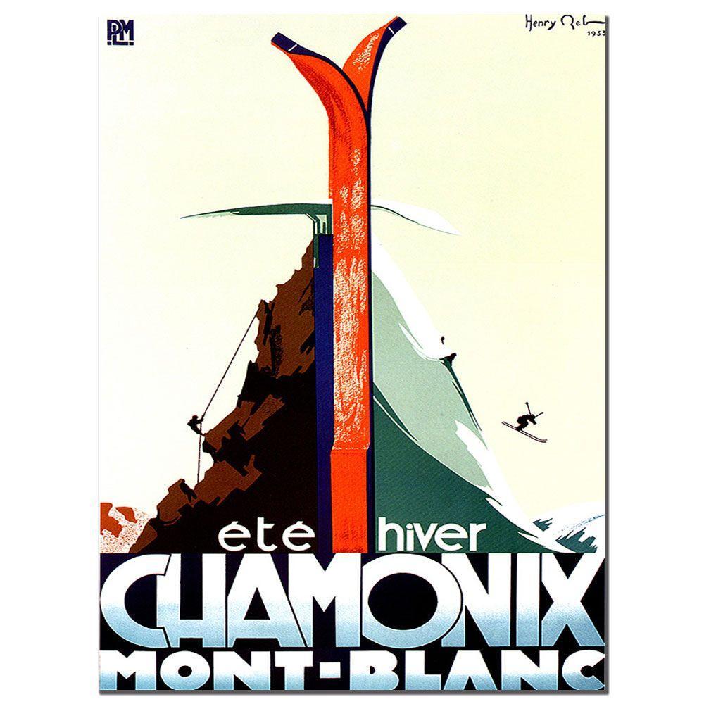 Trademark Fine Art 30 in. x 47 in. Chamonix Mont Blanc Canvas Art