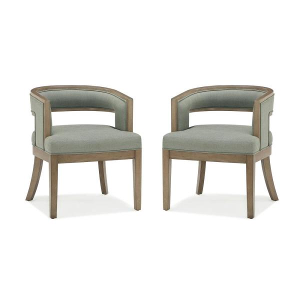 Outstanding Dorel Living Brunswick Sage Gray Walnut Rounded Back Accent Pdpeps Interior Chair Design Pdpepsorg