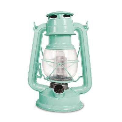 150-Lumen Vintage Sea Mist Battery Operated 12 LED Lantern