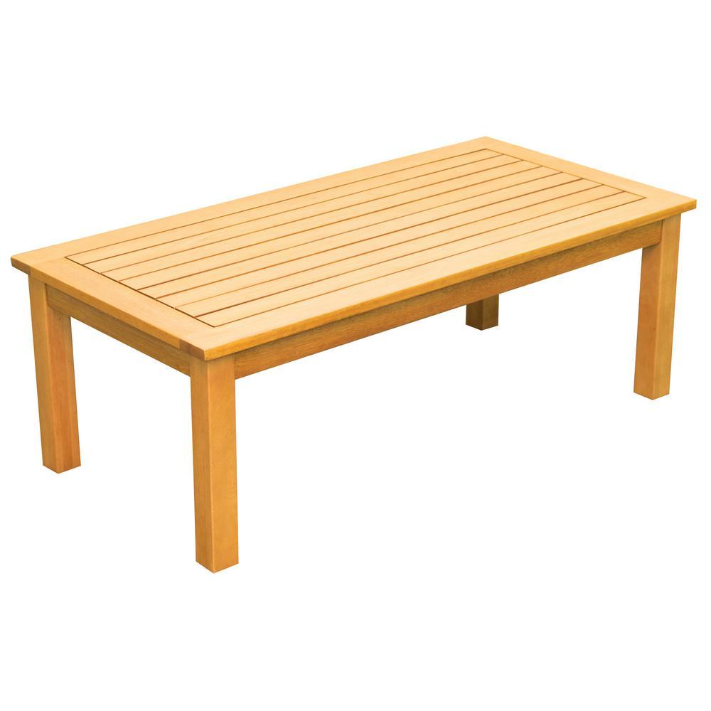 Newport Wood Outdoor Patio Coffee Table