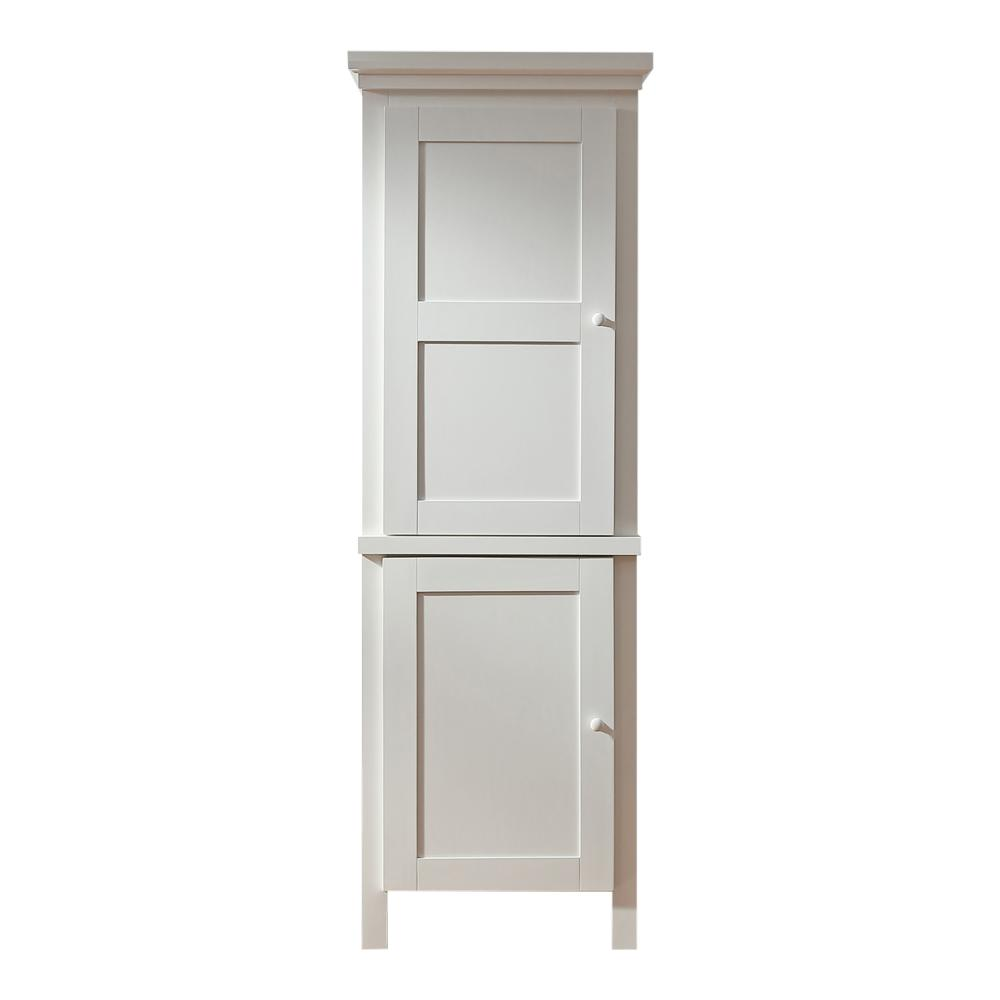 Martha Stewart Living Maidstone Assembled 26 x 78 x 20 in. Pantry/Utility  with Wooden Doors in Picket Fence