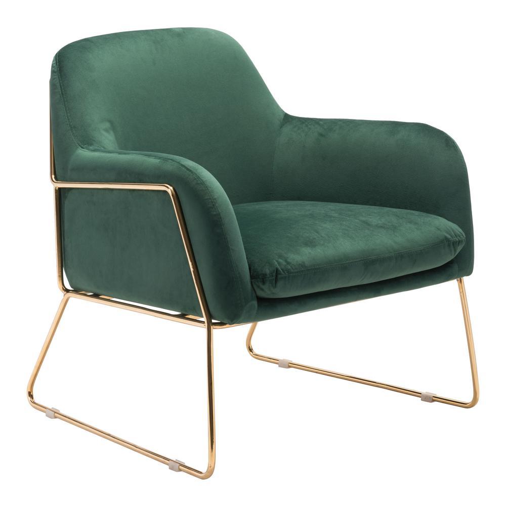 Nadir Green Velvet Arm Chair