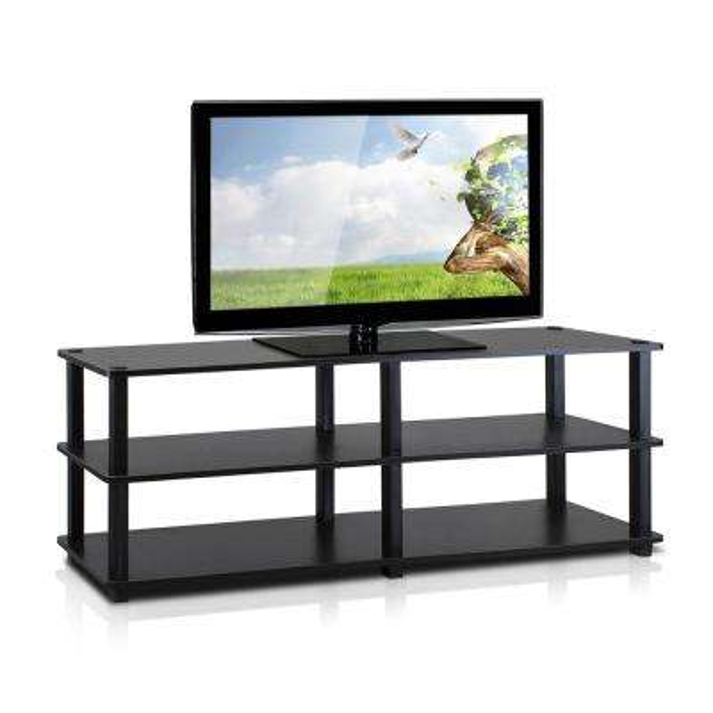 Turn-S-Tube Espresso 3-Shelf TV Stand