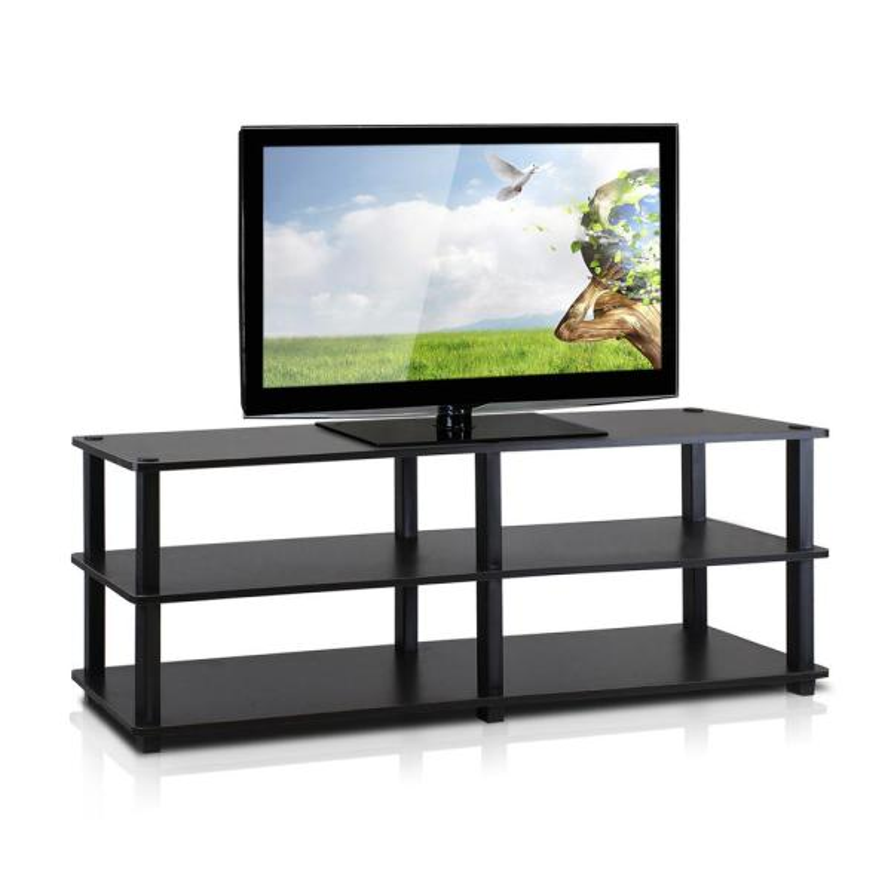 Furinno Turn-S-Tube Espresso 3-Shelf TV Stand TV14038EX/BK