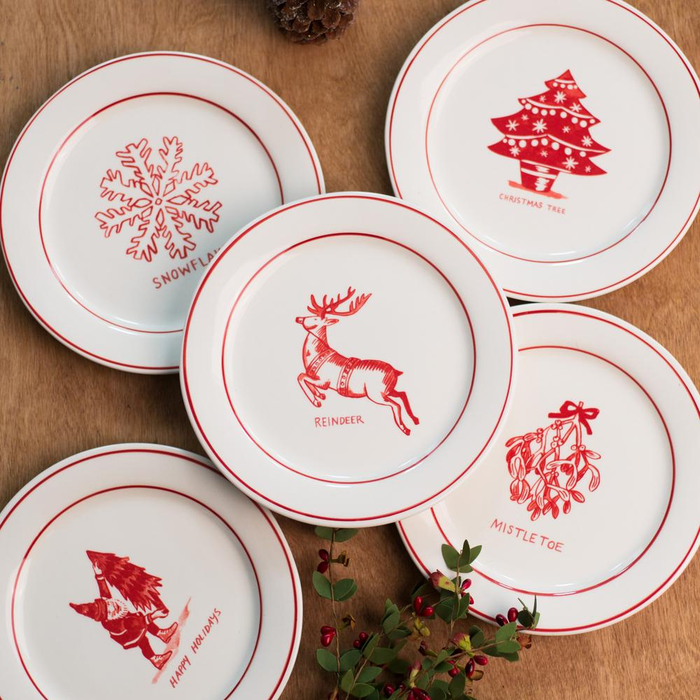 Molly Hatch Molly Hatch 8 5 In D Reindeer Salad Plate 63929 The