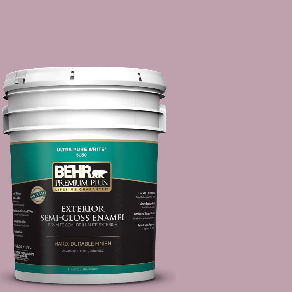 BEHR Premium Plus 5-gal. #S120-4 Decanting Semi-Gloss Enamel Exterior Paint