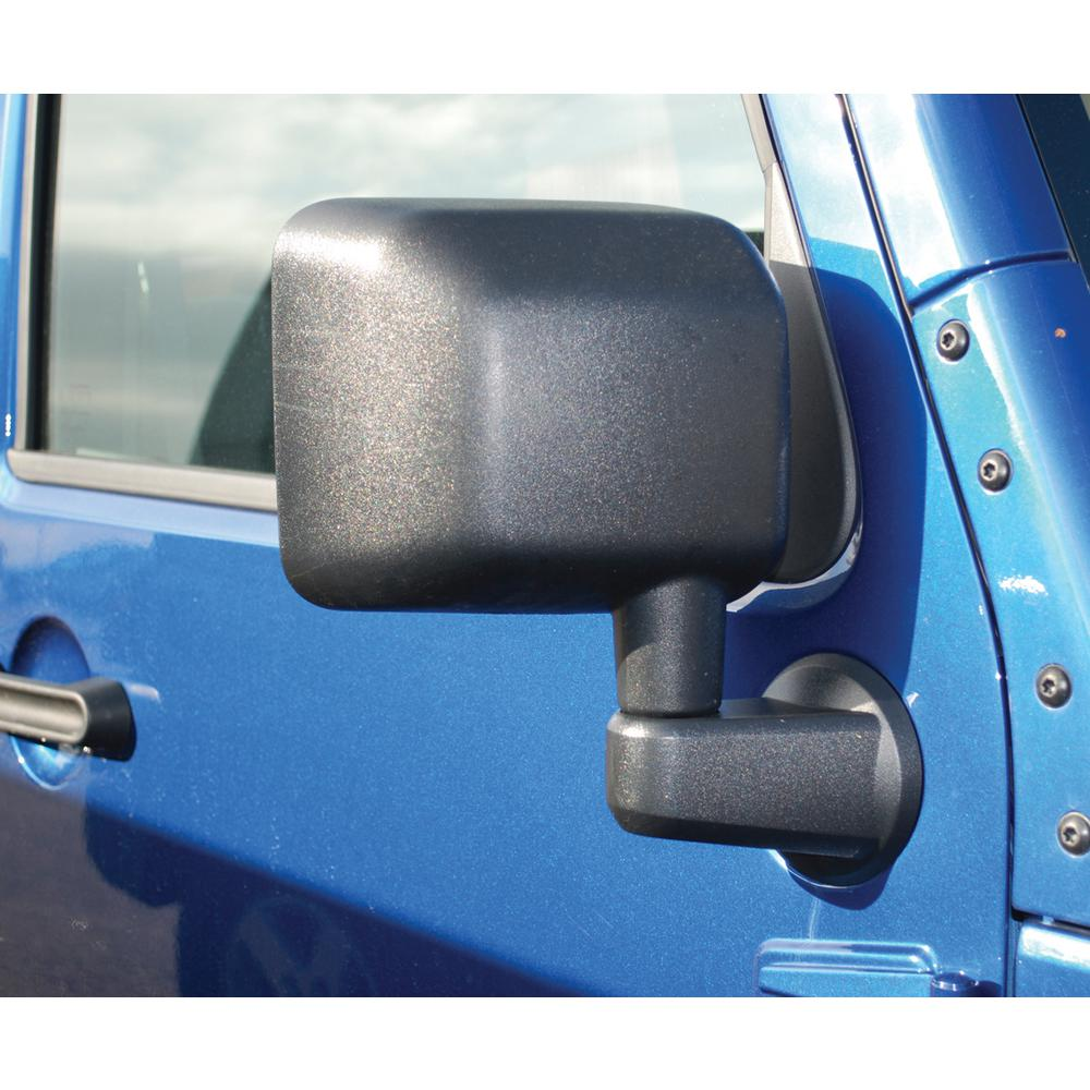 Bestop Black Solid Arm Factory Design Door Mirror Set Without Power Mirrors For 2007 2018 Wrangler Jk 51260 01 The Home Depot