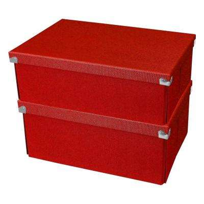 Pop n' Store Medium Square Box in Red (2-Pack)