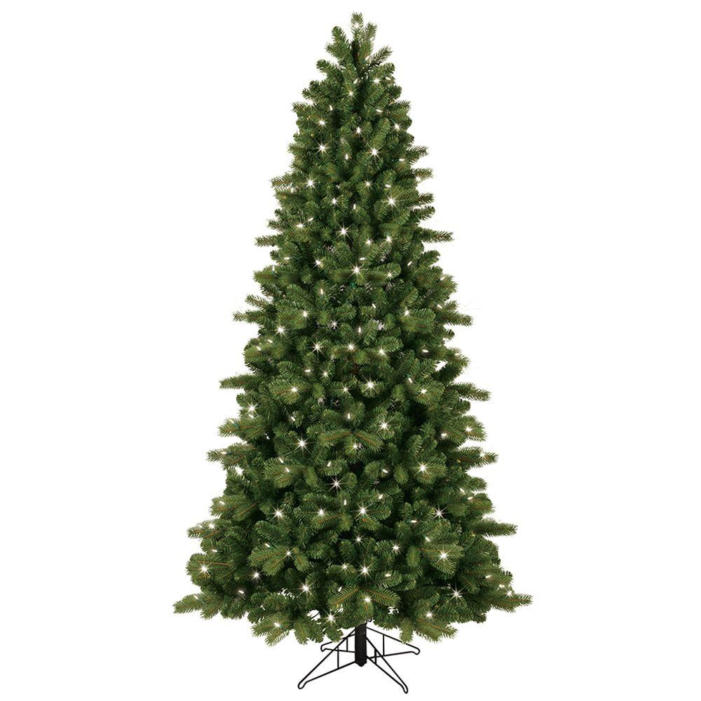 GE 7.5 ft. Pre-Lit LED Energy Smart Just Cut Colorado Spruce Artificial Tree with Color Choice Lights, EZ Light Technology