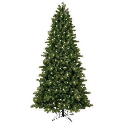 7.5 ft. Pre-Lit LED Energy Smart Just Cut Colorado Spruce Artificial Tree with Color Choice Lights, EZ Light Technology