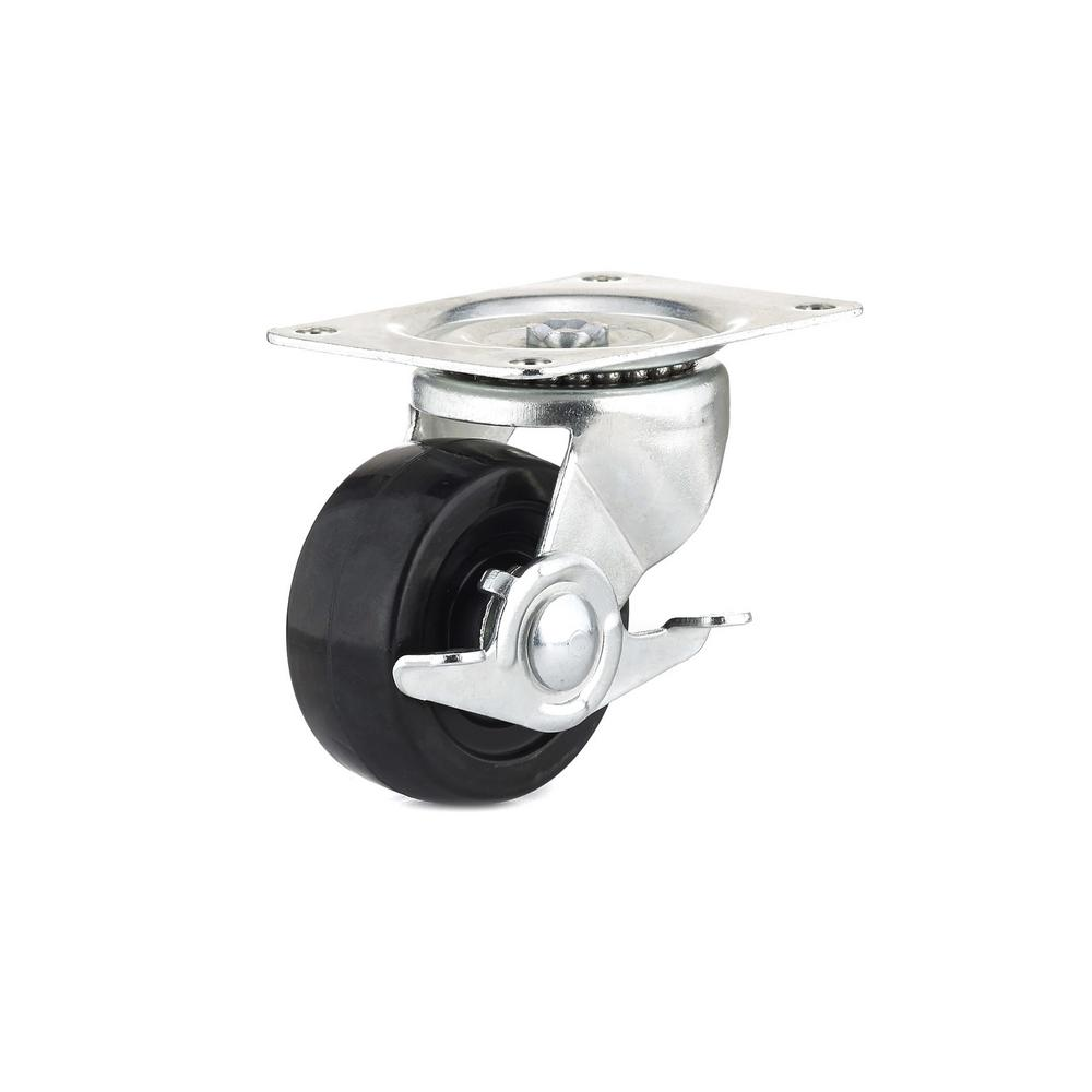 3 in. General-Duty Rubber Swivel Caster with Brake