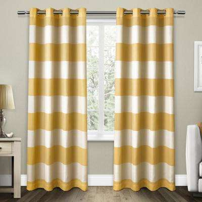 Santa Monica Sundress Yellow Cabana Stripe Grommet Top Window Curtain