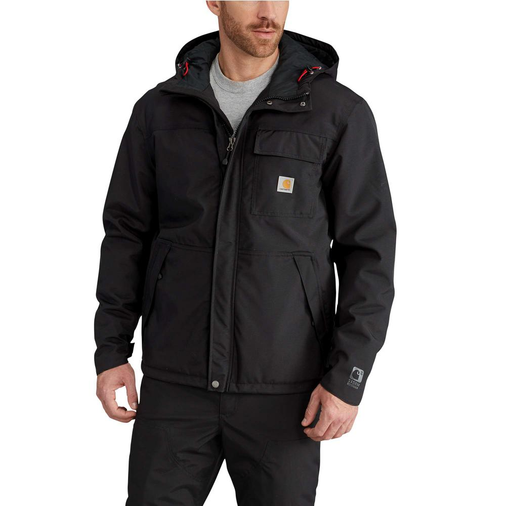 Men'S Large Black Nylon Insulated Shoreline Jacket
