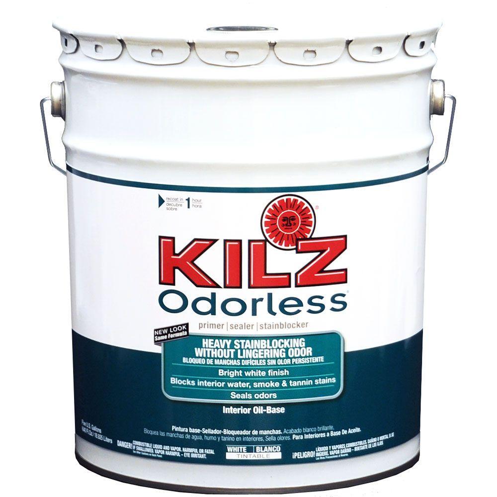 5 gal. White Pigmented Oil-Based Interior Sealer, Primer, and Stain Blocker