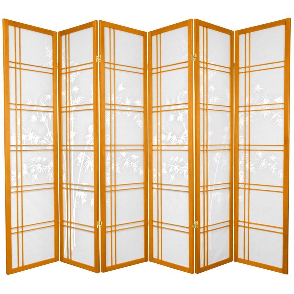 6 ft. Honey 6-Panel Room Divider