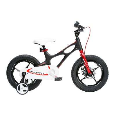 16 in. 2017 Newly-Launched Space Shuttle Kid's Bike, Lightweight Magnesium Frame with Training Wheels in Black