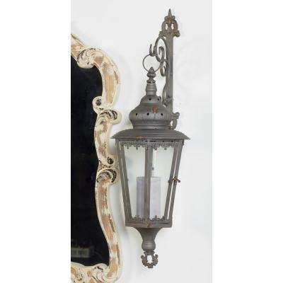 Brown Candle Wall-Mounted Lantern