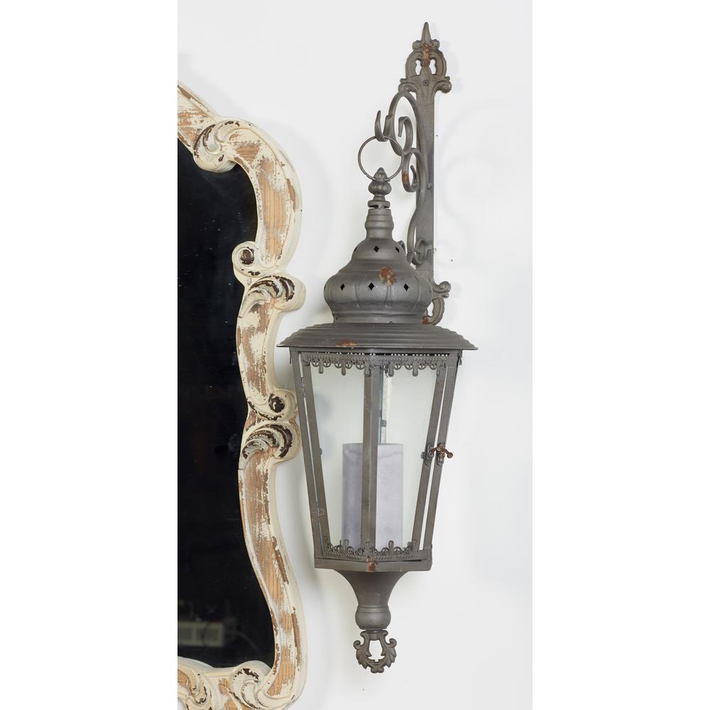 Brown Candle Wall-Mounted Lantern