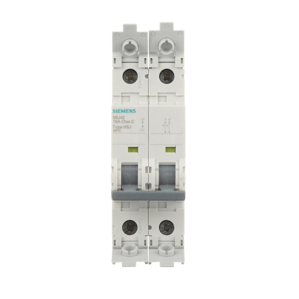 siemens 20 amp double pole type qpf2 gfci circuit breaker us2 qf220ap the home depot. Black Bedroom Furniture Sets. Home Design Ideas