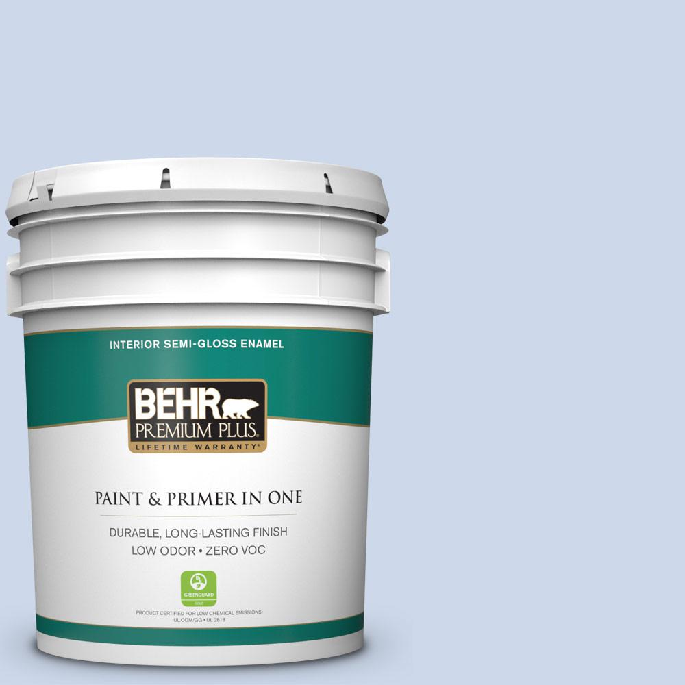 BEHR Premium Plus 5-gal. #M540-2 Angelic Blue Semi-Gloss Enamel Interior Paint
