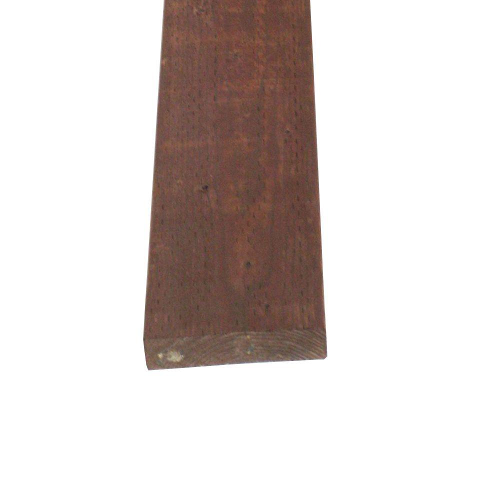 null Pressure-Treated Lumber HF Brown Stain (Common: 2 in. x 8 in. x 12 ft.; Actual: 1.5 in. x 7.25 in. x 144 in.)
