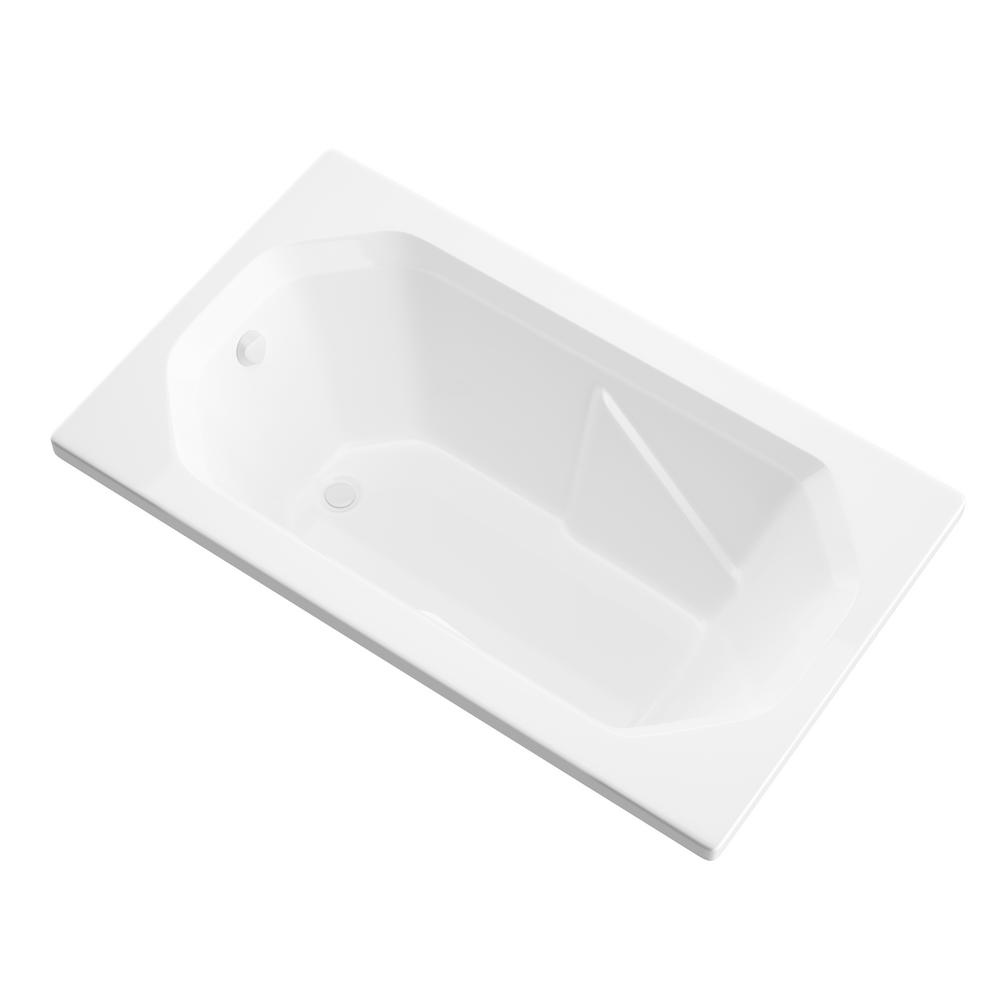 Universal Tubs Onyx 5 ft. Acrylic Center Drain Rectangular Drop-in Non-Whirlpool Bathtub in White