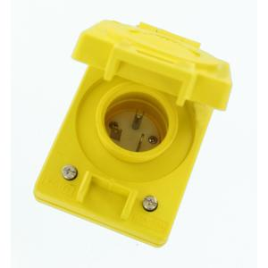 Leviton 20 Amp 125-Volt Wetguard Straight Blade Grounding Single Inlet Cover,... by Leviton