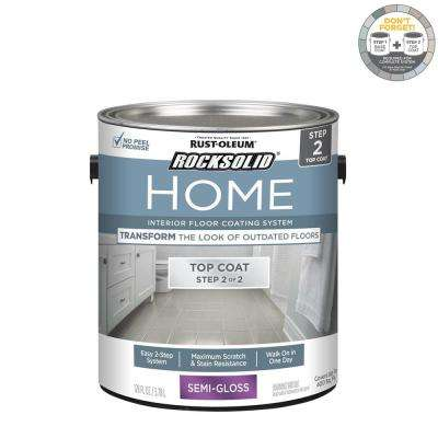 Home 1 gal. Semi-Gloss Clear Interior Floor Topcoat (2-Pack)