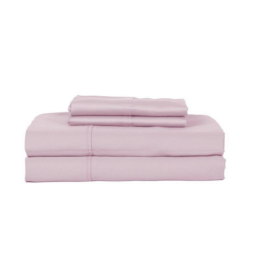 Perthshire 4 Piece Lavender Solid 450 Thread Count Cotton Full Sheet Set T450f Pl Lav The Home Depot