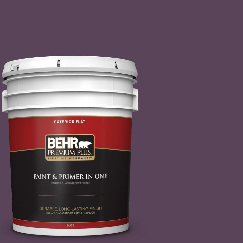BEHR Premium Plus 5-gal. #T11-3 Strike a Pose Flat Exterior Paint
