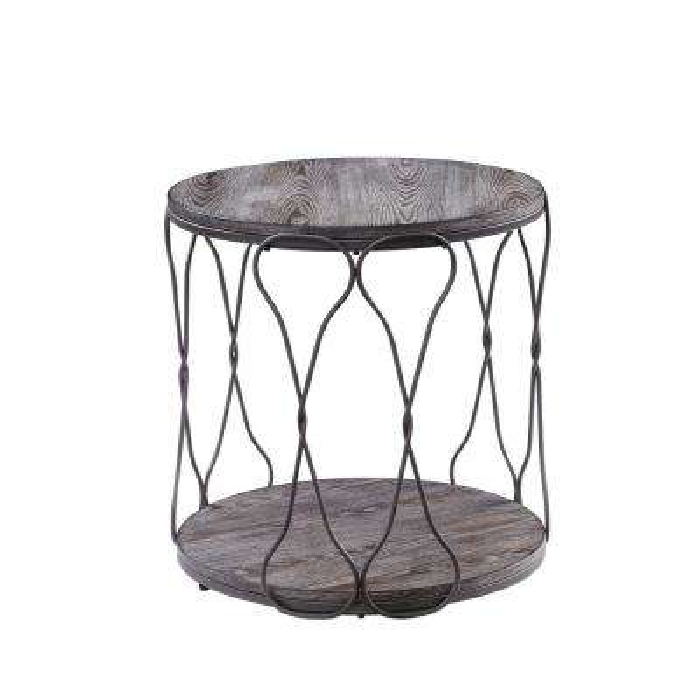 Octavia Gray 1-Shelf End Table