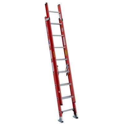 16 ft. Fiberglass D-Rung Extension Ladder with 300 lb. Load Capacity Type IA Duty Rating