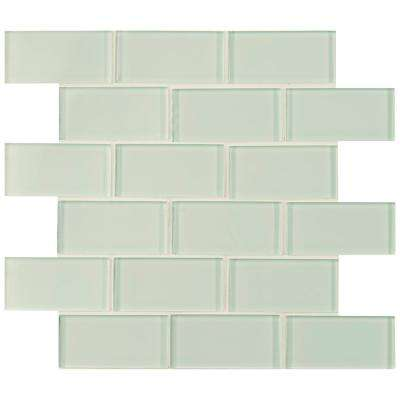 Arctic Ice Subway 12 in. x 12 in. x 8 mm Glass Mesh-Mounted Mosaic Tile (10 sq. ft./case)